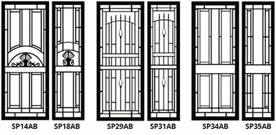 security doors and screens - style set 1