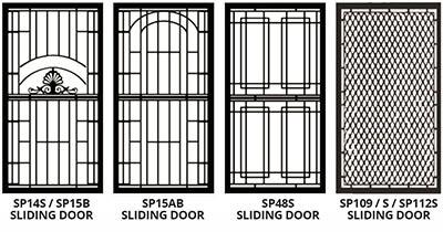sliding security door styles