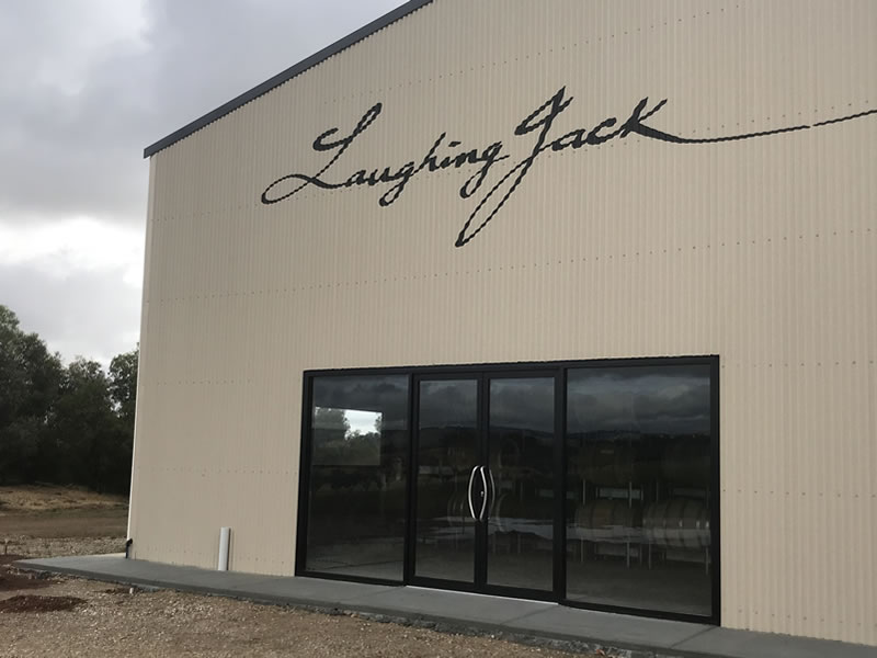 commercial glass doors - Laughing Jack winery
