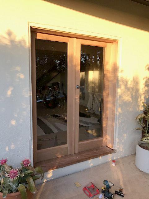 Entrance door remodel after