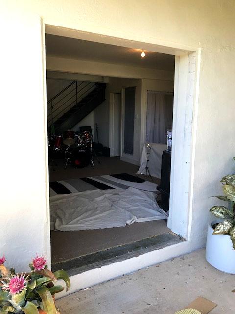 Entrance door remodel during