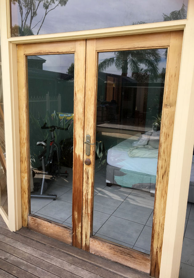 French door remodelling before