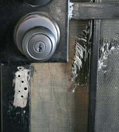 Security door repairs including locks mesh and damage