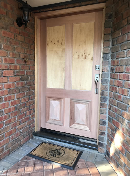 Entrance Door Replacement Example nearly done