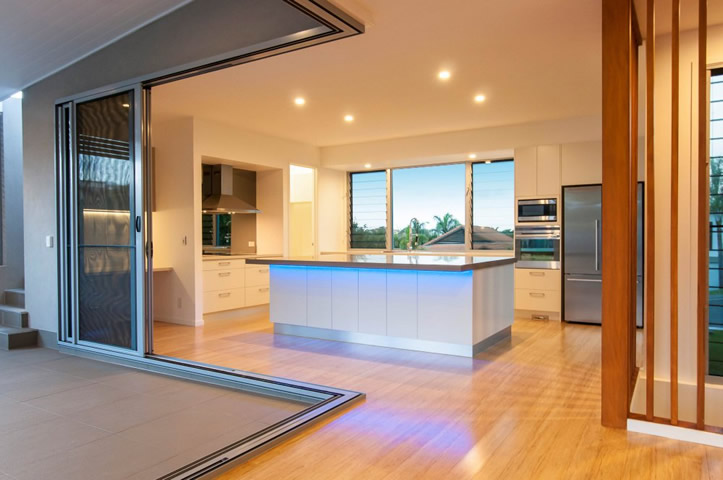 New home or remodelling with sliding doors