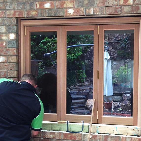 Repair wooden window stuck in frame