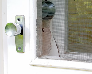 Fly screen door repairs - aluminium and wooden screen doors