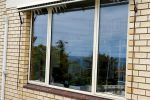 Replace large wooden windows with aluminium windows after