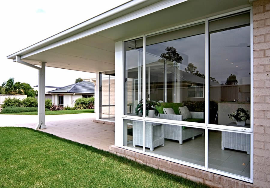 Spacious aluminium windows on classic Adelaide home