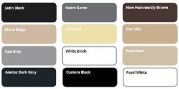 security door and screen colour options