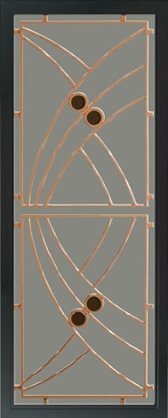 SP71AB Art Deco Orange Security Door