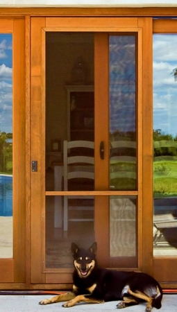 wood frame sliding door